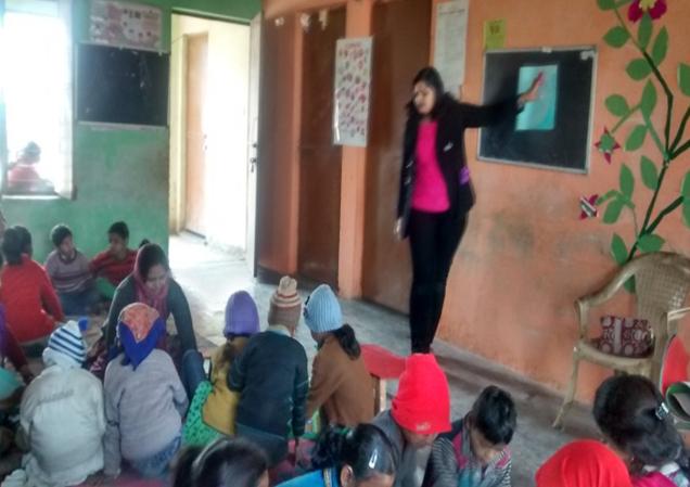 Tugalpur center - helping childern